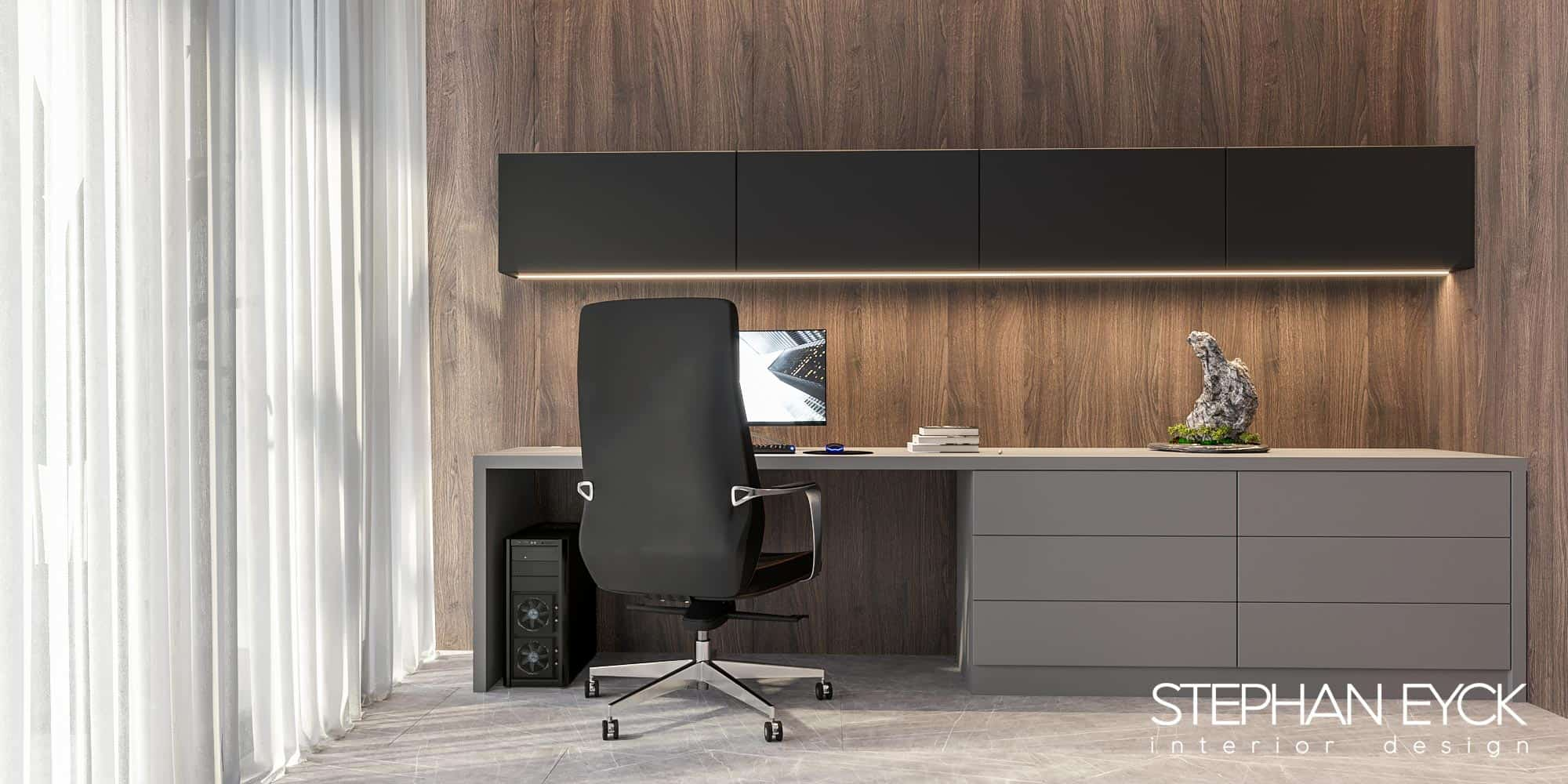 design birou modern camera studiu