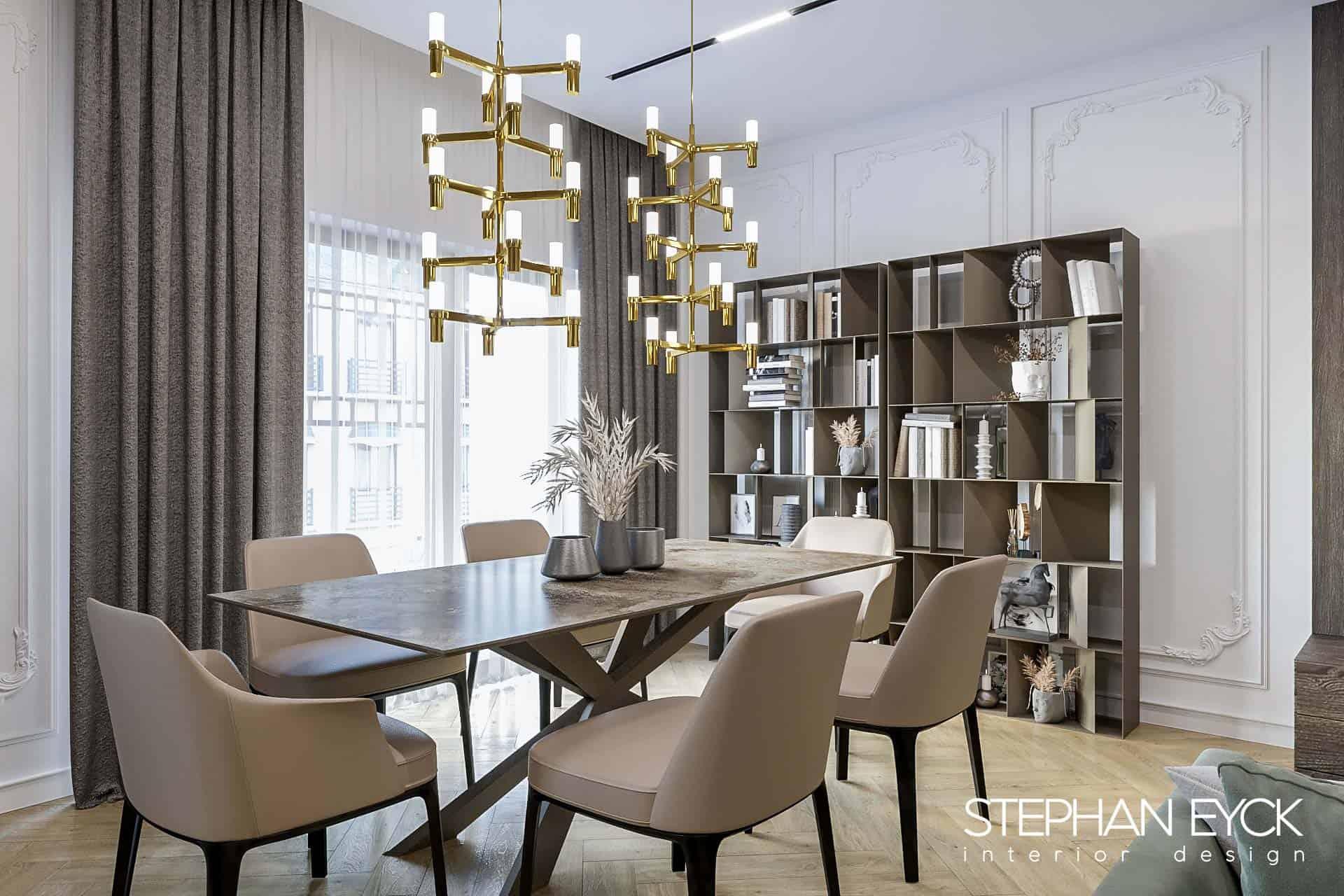 design dining stil contemporan