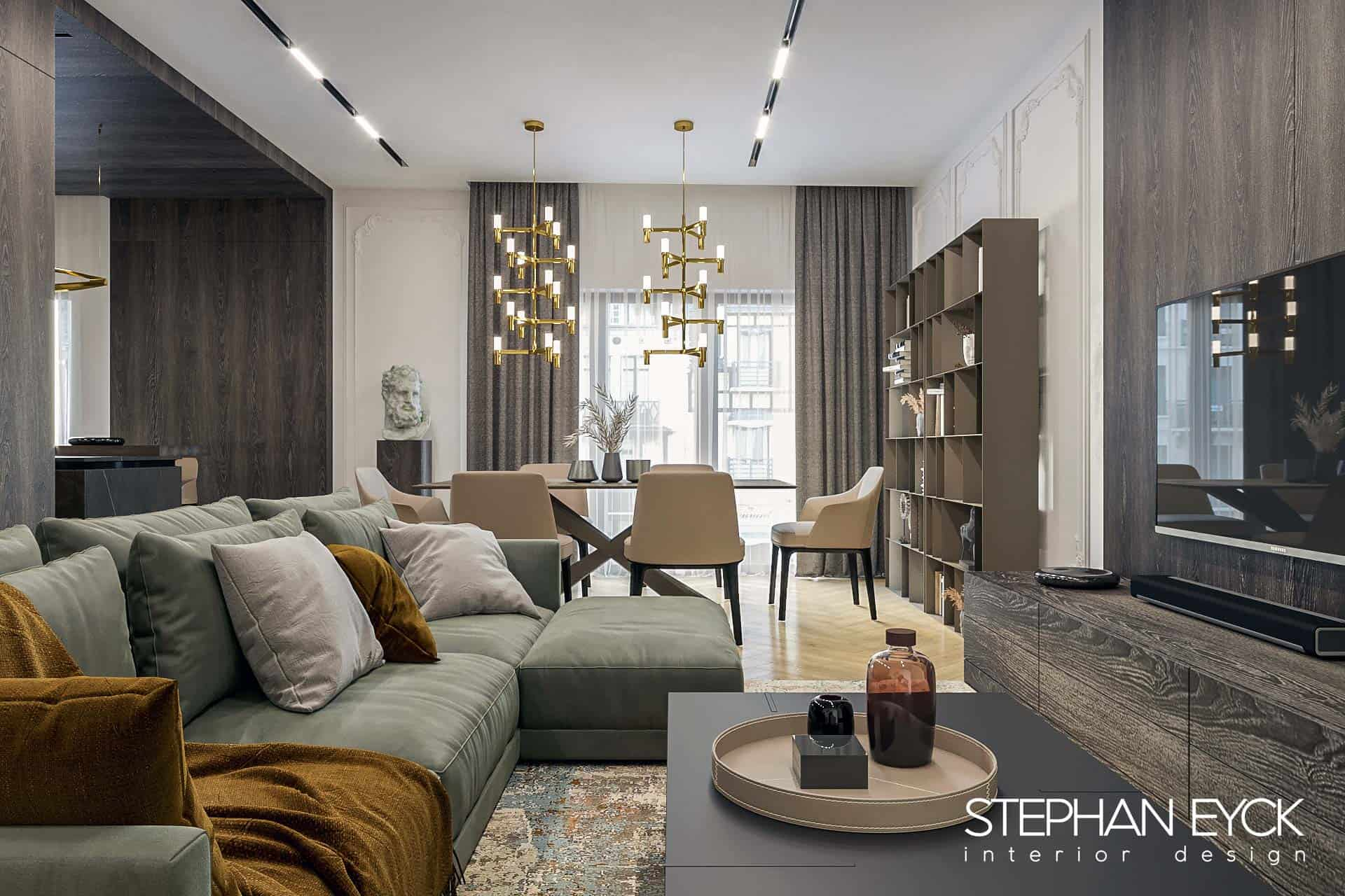 design livingroom in stil contemporan