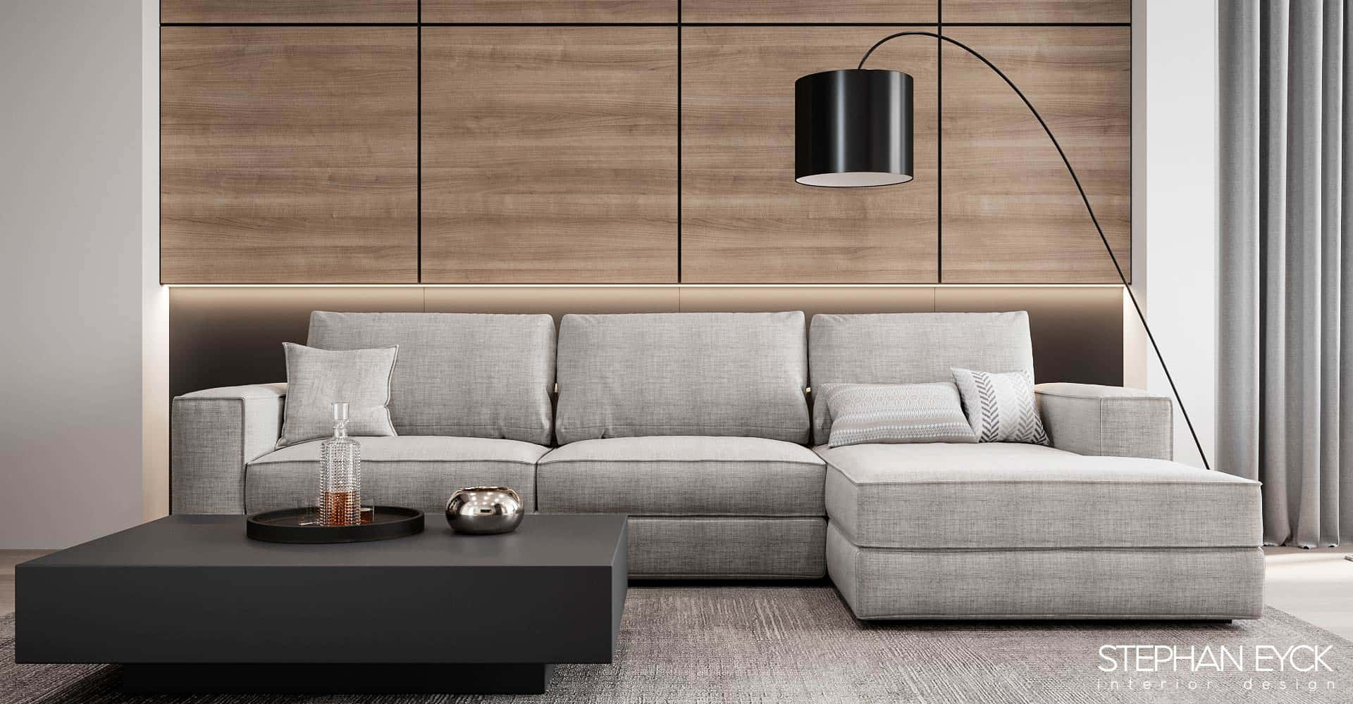 design cu canapea stofa