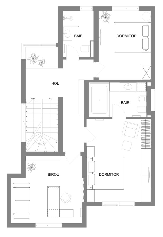 Plan etaj casa cs braila