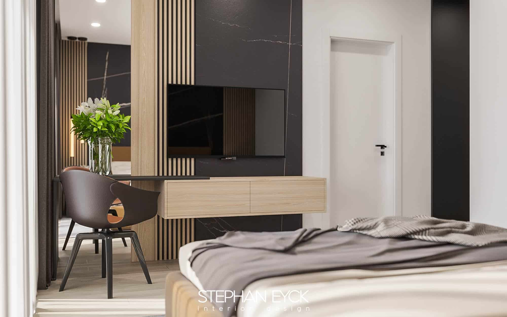 design dormitor cu comoda