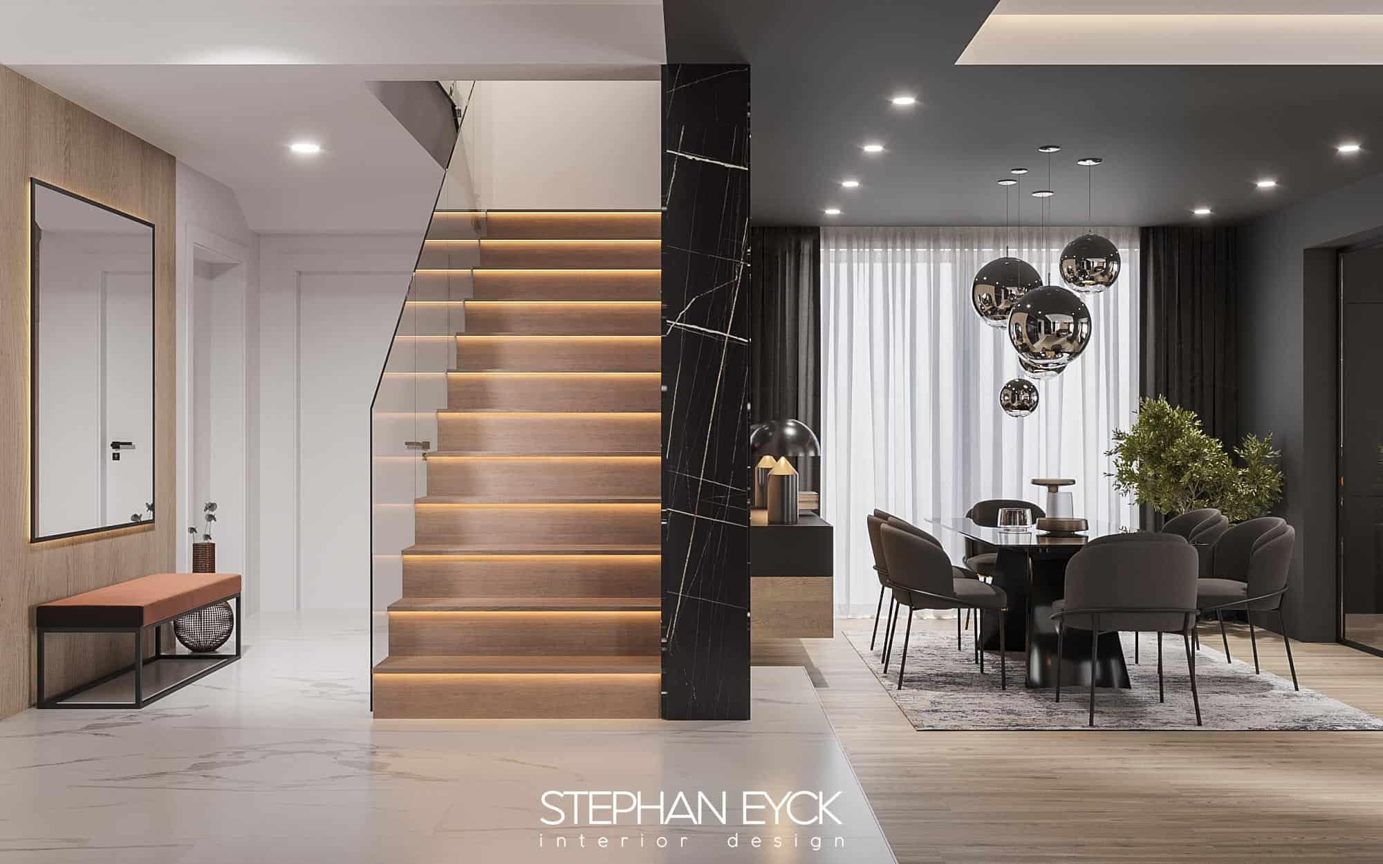 design casa scarii placat cu lemn